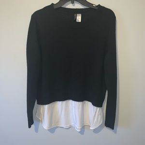 H&M sweater white bottom 001